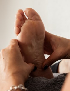 Reflexology on an adult